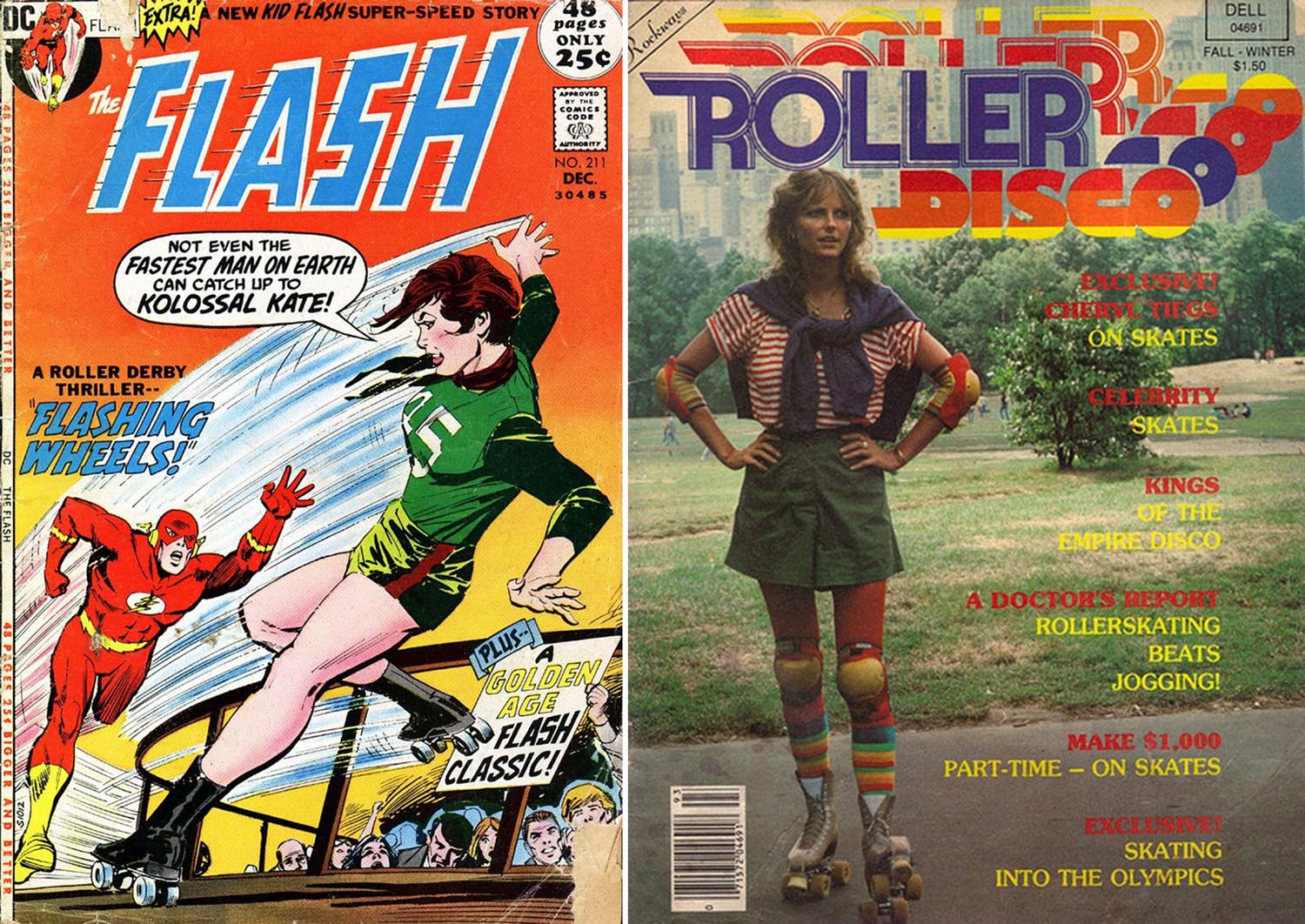 roller skating vintage covers