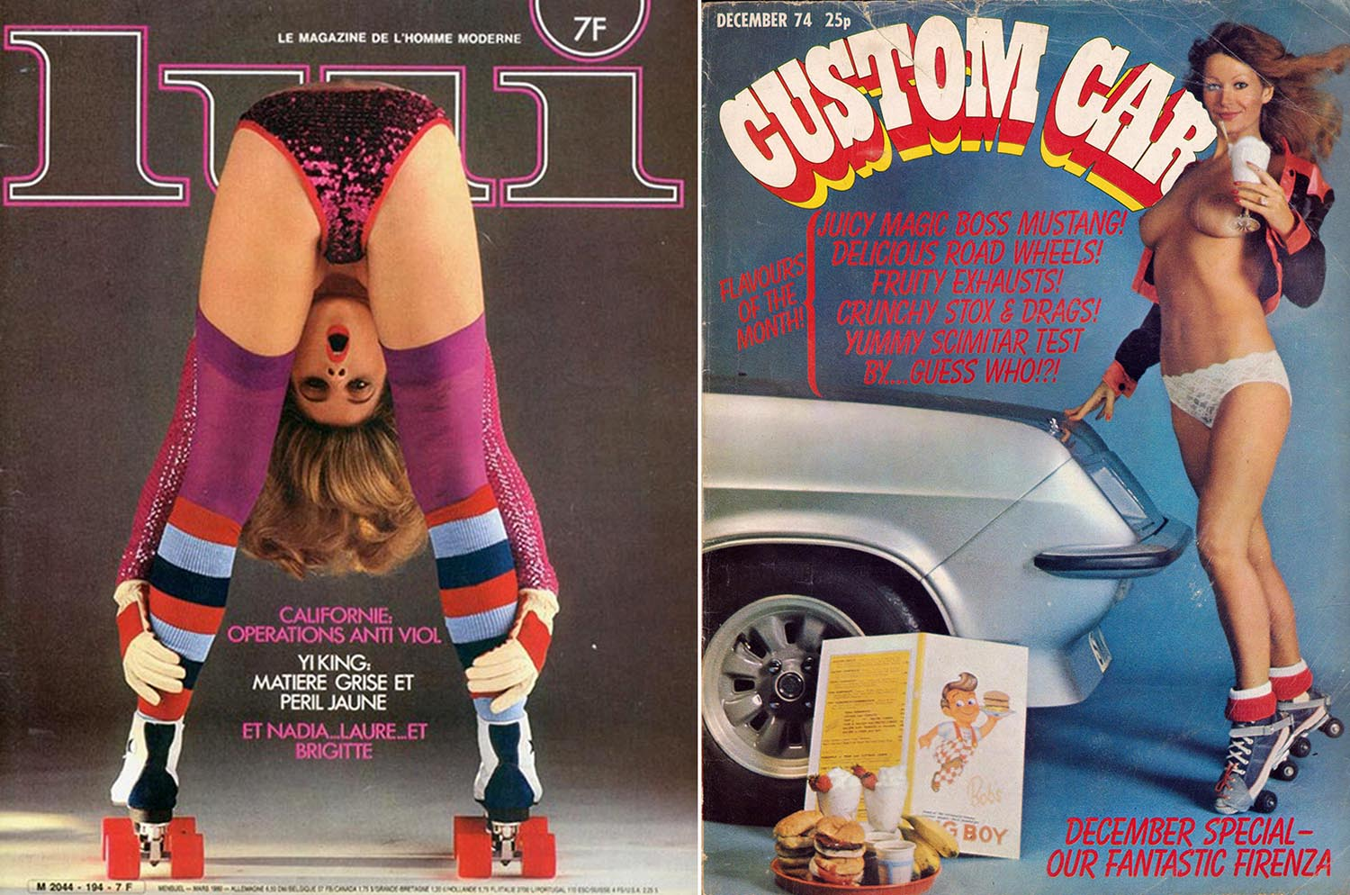 roller skating vintage magazine covers