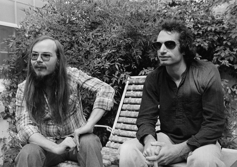 Oct. 29, 1977, file photo, Walter Becker, left, and Donald Fagen of Steely Dan