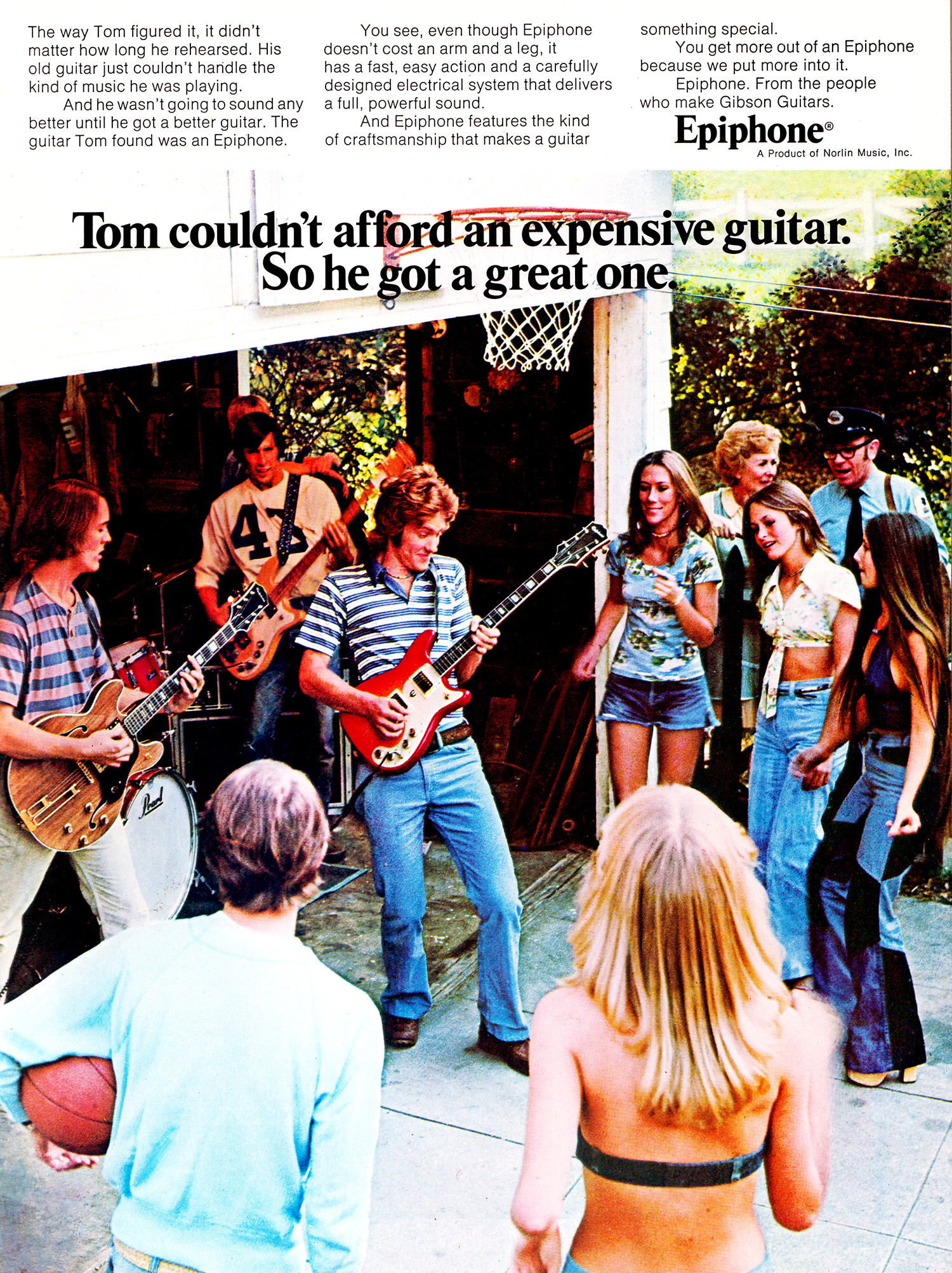 vintage guitar advert