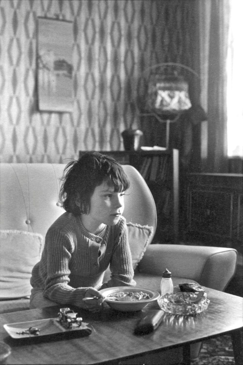Boy at lunch, 1974, Toxteth, Liverpool