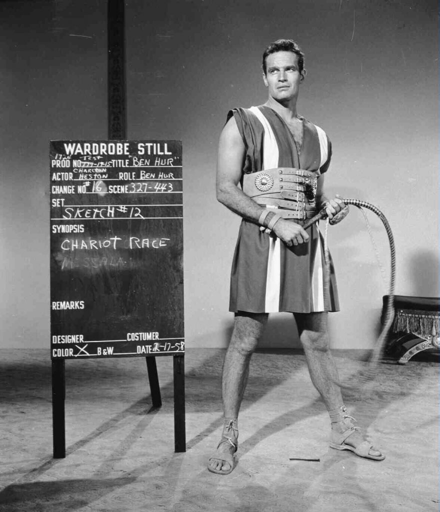 Charlton Heston Costume Still Flashbak