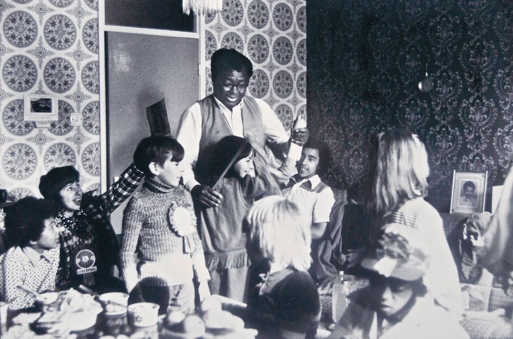 Football Final party at the Davies' 1974, Toxteth, Liverpool