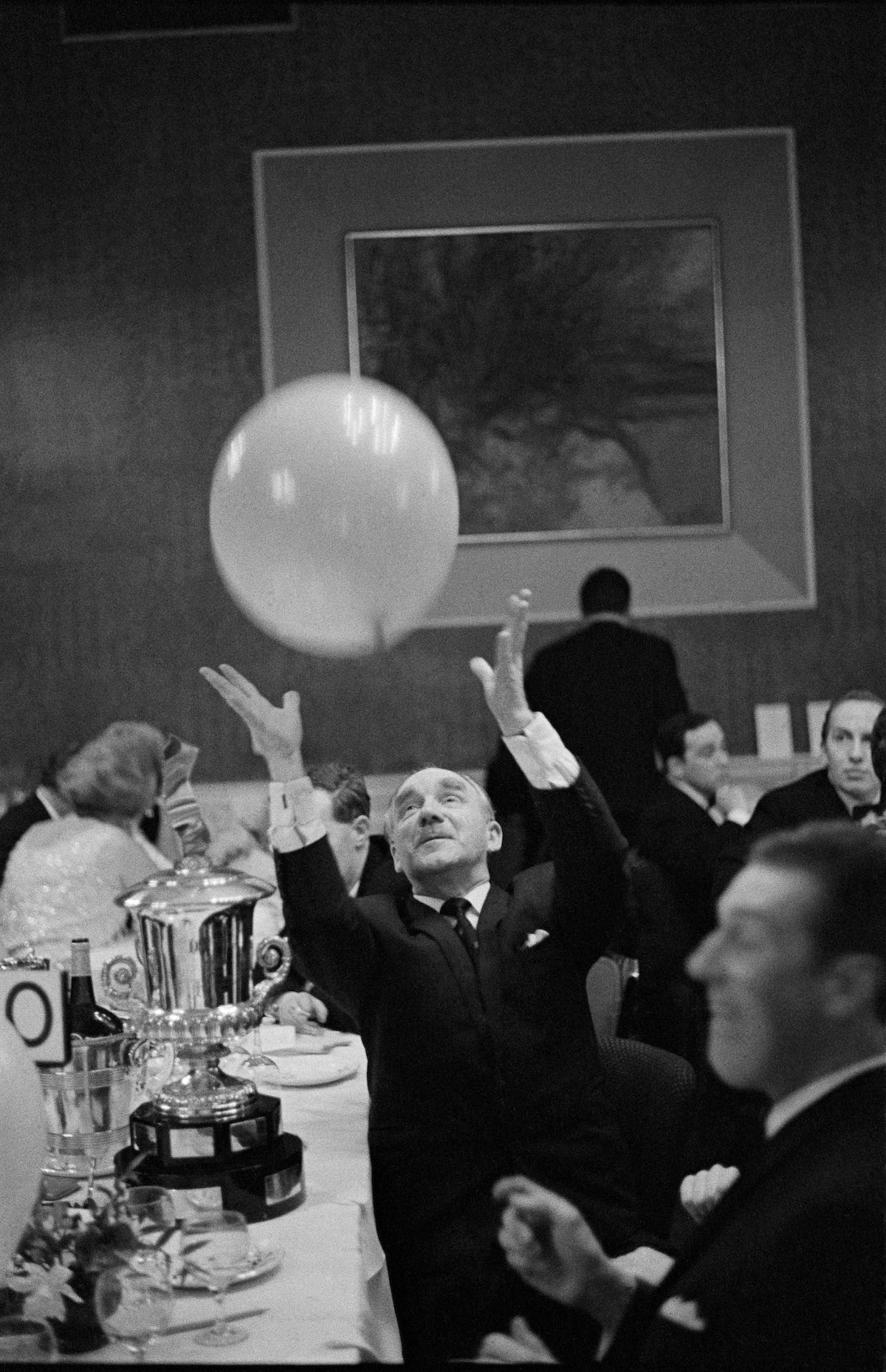 G.B. SCOTLAND. Edinborough. Retired gentleman at the MG Car owners Ball. 1967.