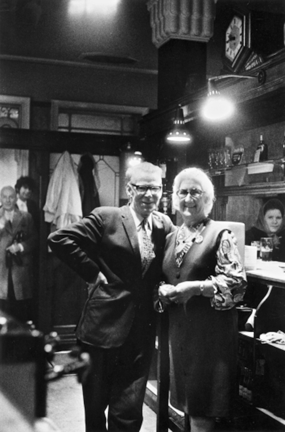 Toxteth, Liverpool, Landlord and landlady at Blackburne Arms 1972 the Blackburne Arms, 1972