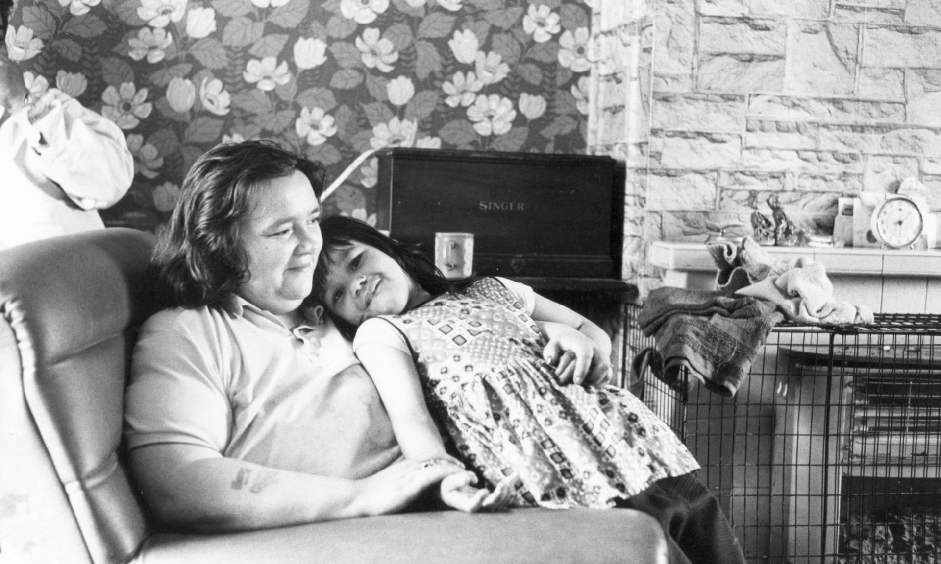 Lizzie Hodson and her mother at home, in 1974
