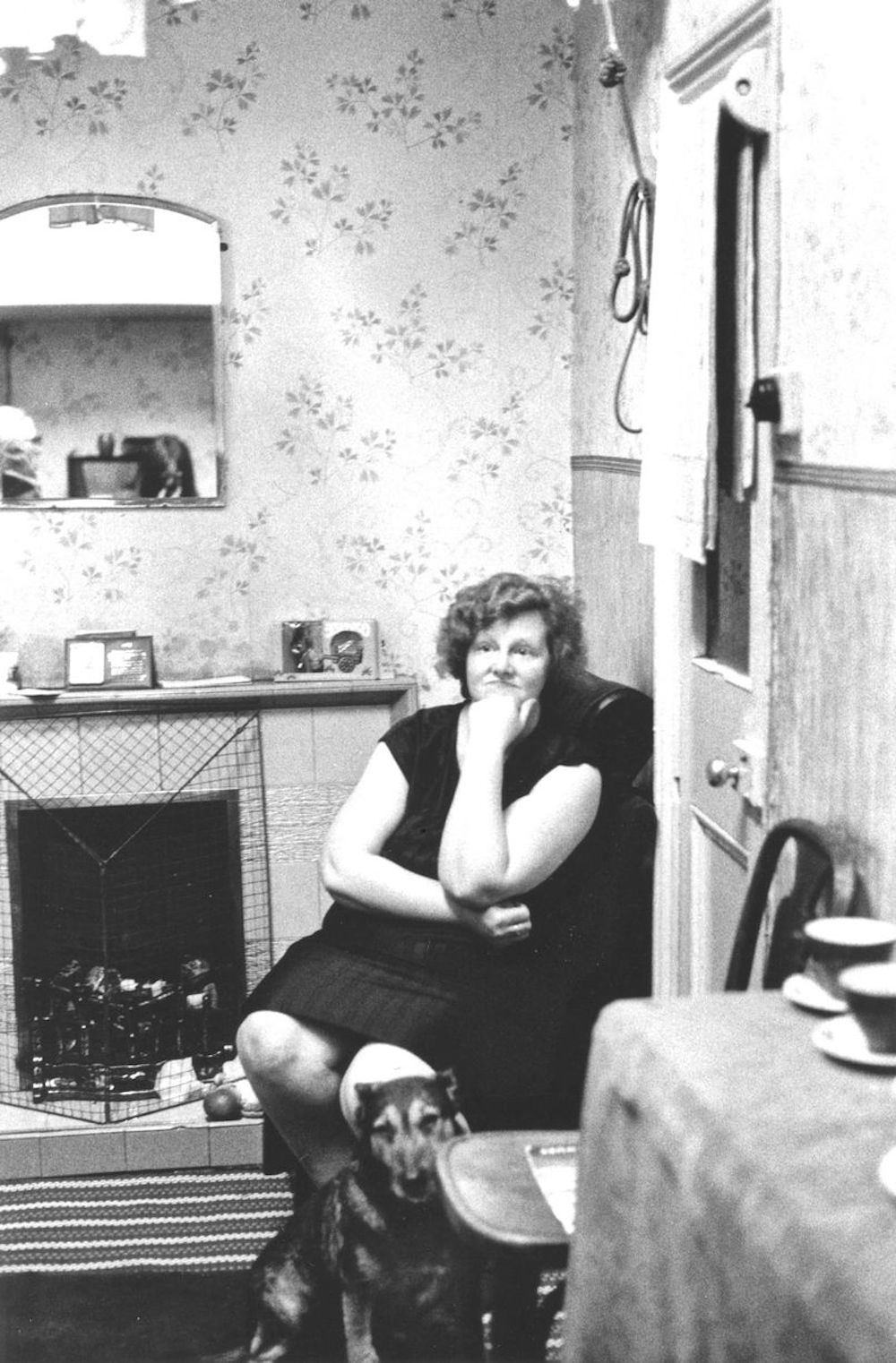 Mrs Long at home 1972, Toxteth, Liverpool