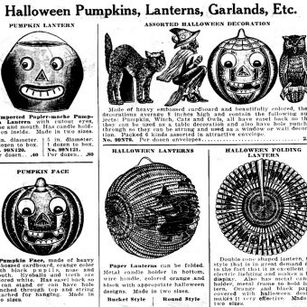 Halloween Catalog Pages: 1920s-1950s