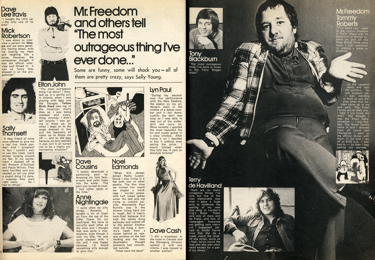 Mr Freedom Tommy Roberts Scanned from Petticoat, November 1974.
