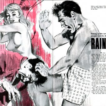 30 Brilliant & Outrageous 2-Page Pulp Art from Mid-Century Men's Magazines