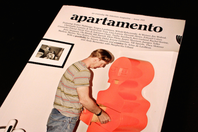 Jim Walrod on the cover of apartamento, 2012. Photo: Magculture
