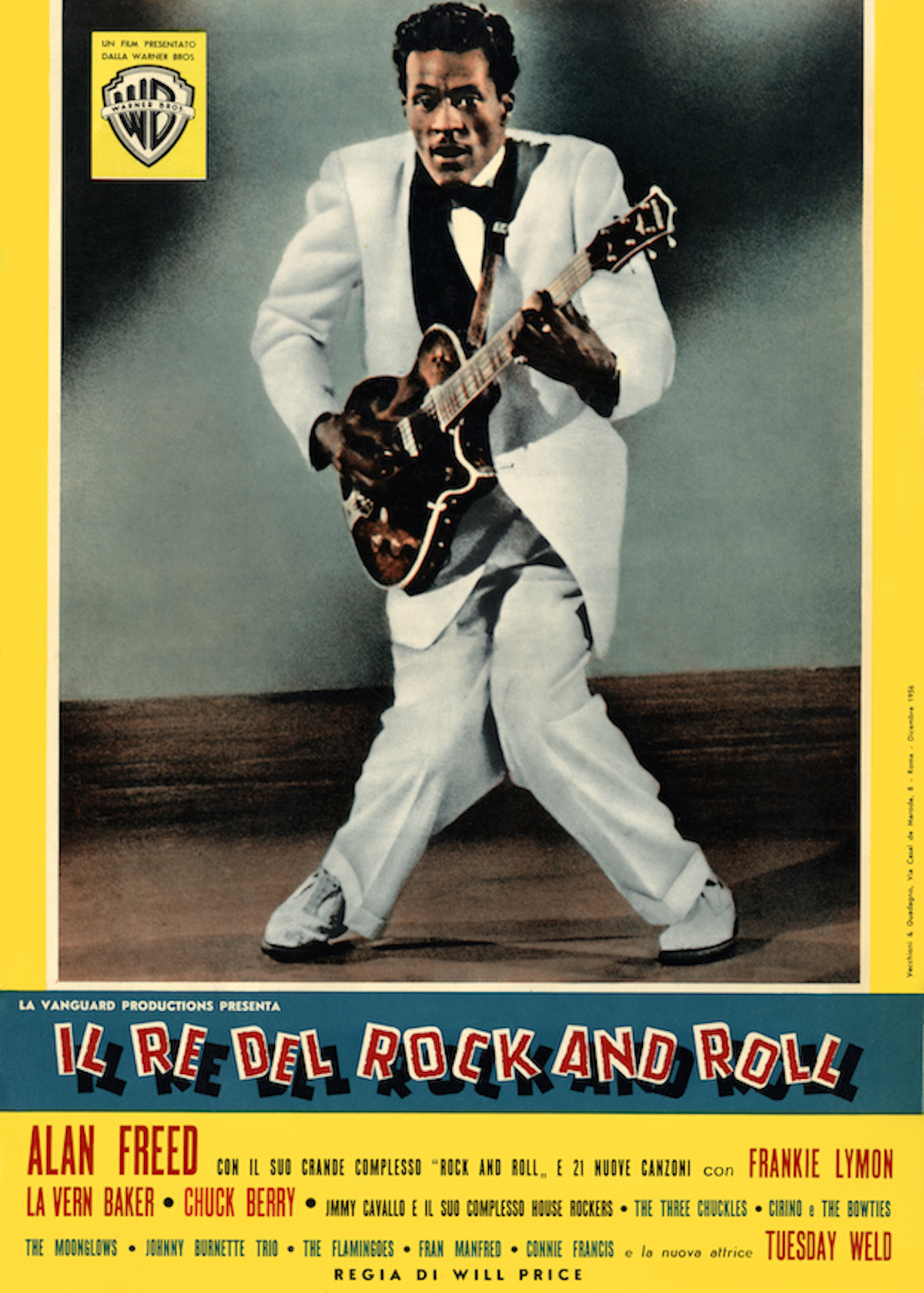 Poster for Italian release of Alan Freed's 1956 musical Rock, Rock, Rock!