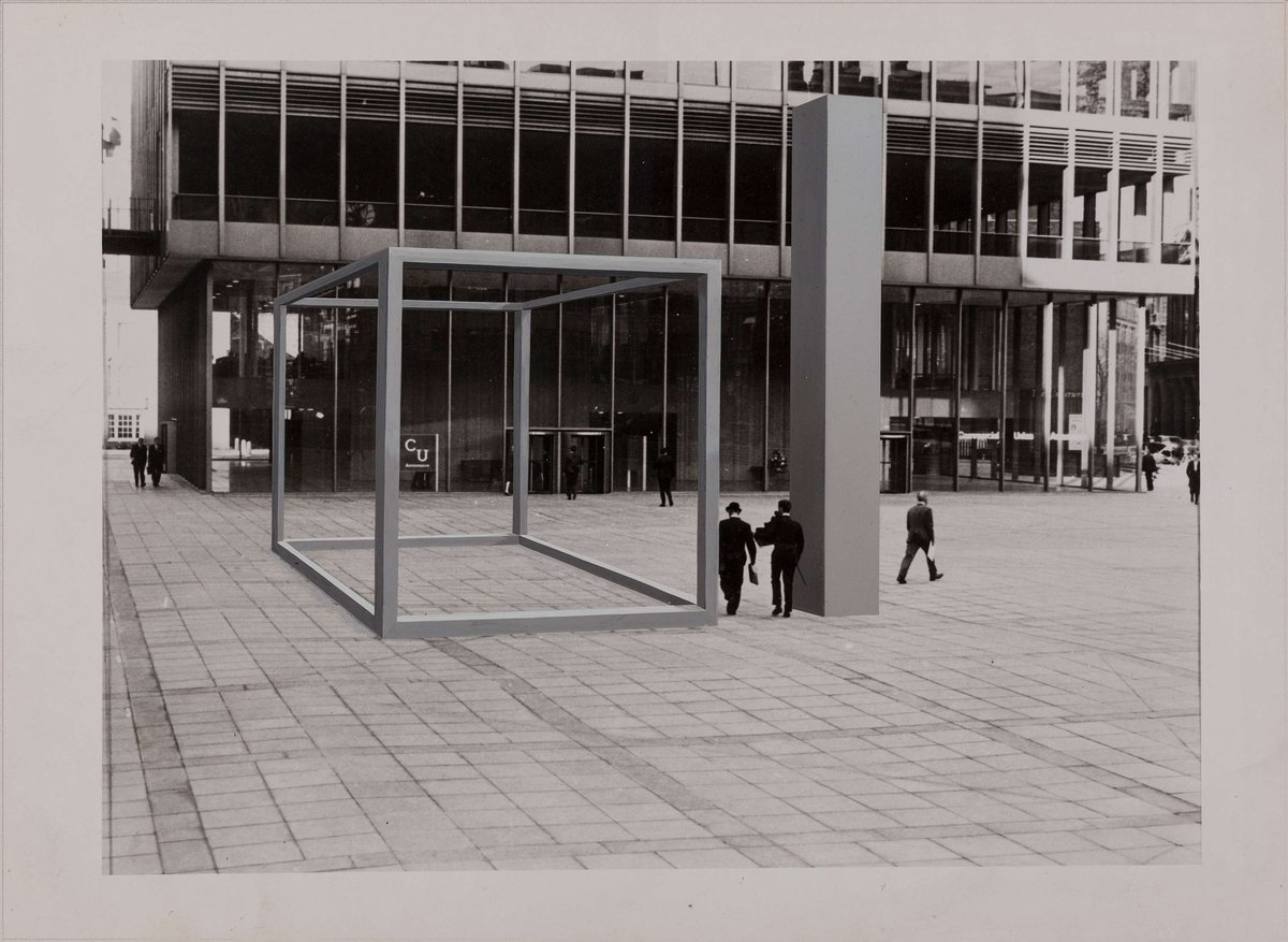 Derek Boshier, 16 Situations 6- commercial union building, 1971