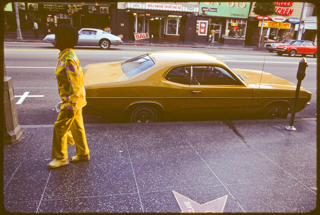 Yellow theme on Hollywood Blvd.
