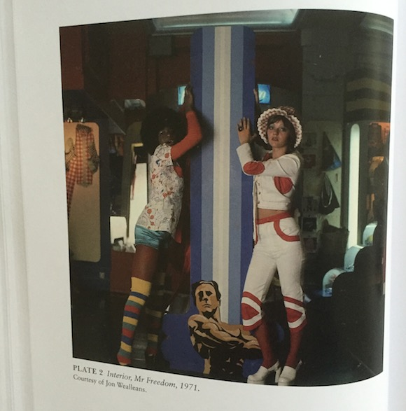 Among the colour plates is this Jon Wealleans 1970 photograph of models in one of his interiors for the second Mr Freedom, in Kensington Church