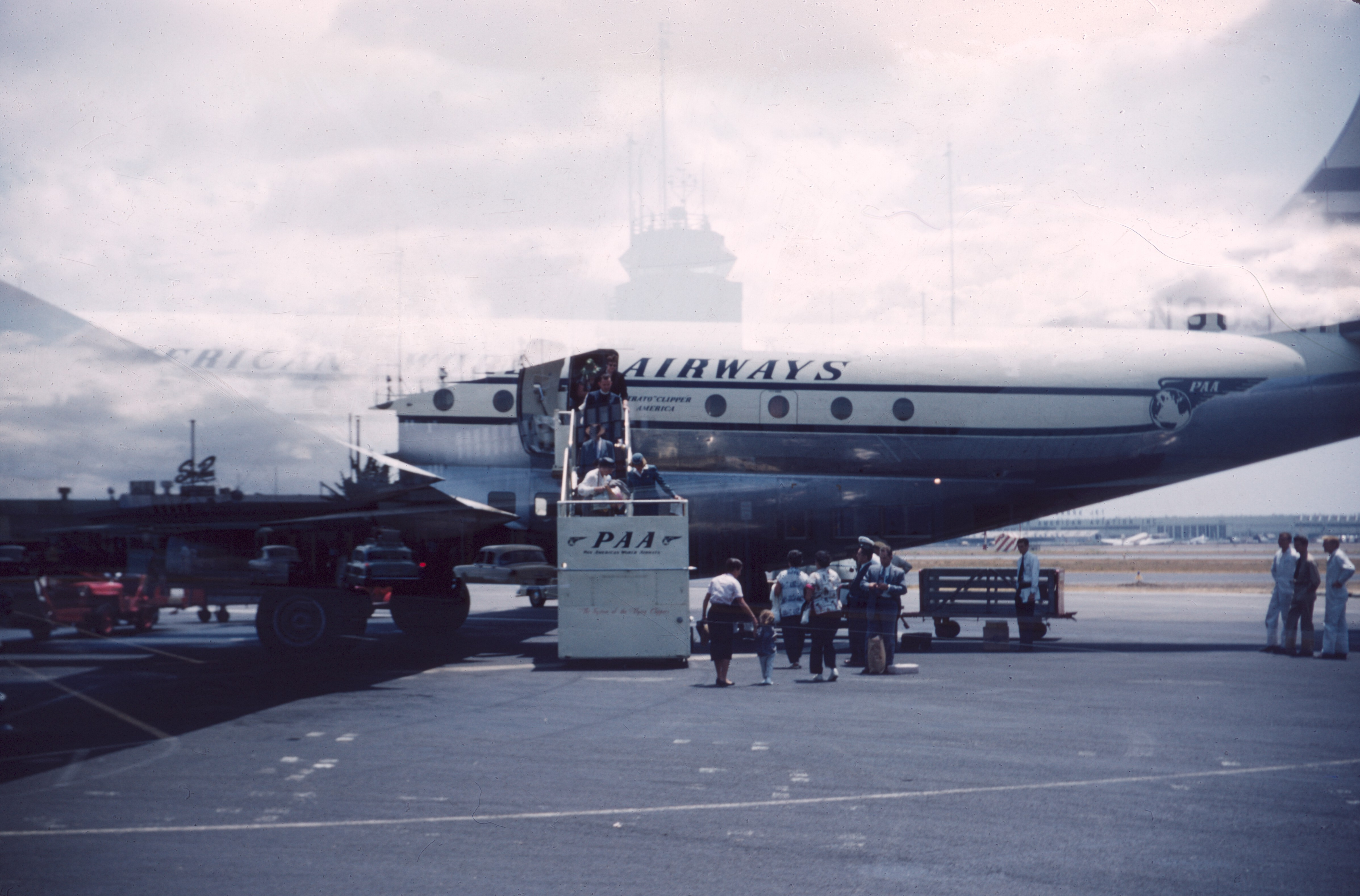 PAA Clipper, return from Japan Aug 1956