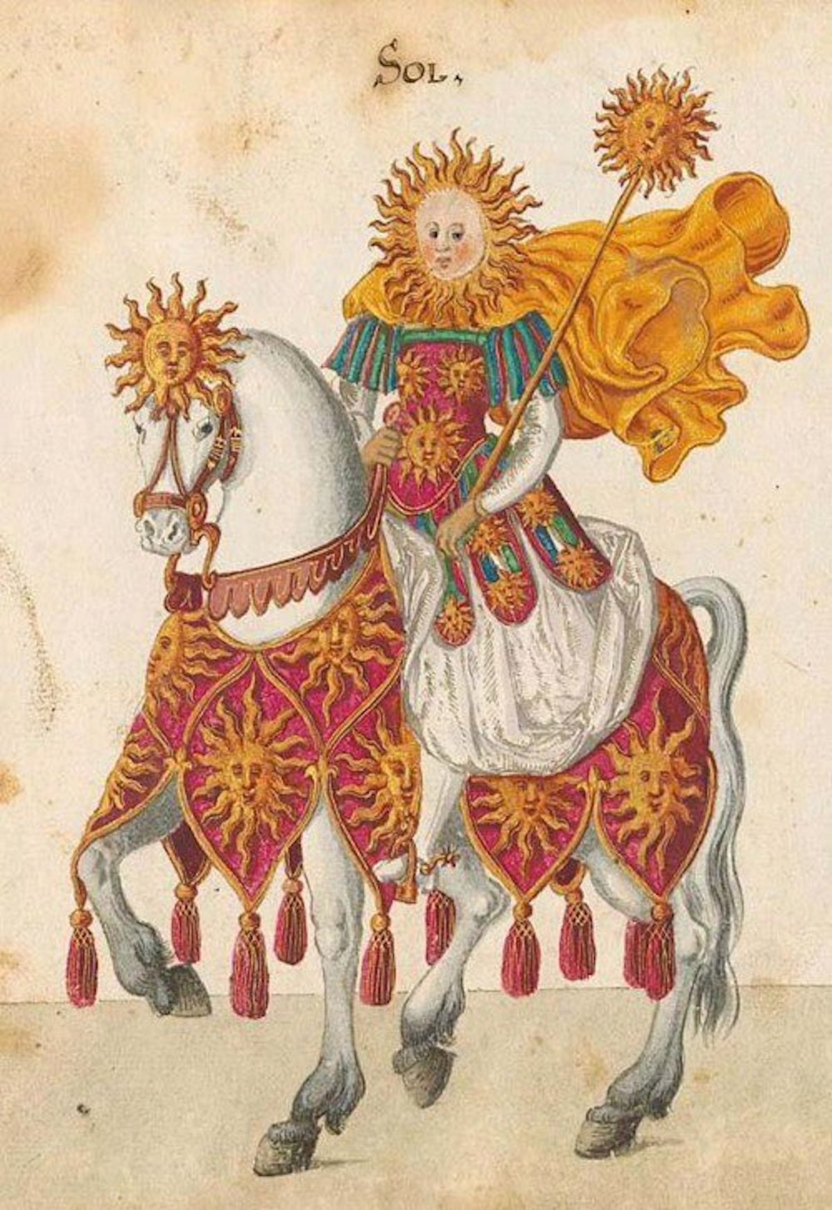 advent 17 The Sun (Sol) 'Allegorical figure featured in celebrations staged to commemorate the Christening of Princess Elisabeth of Hesse in 1596'