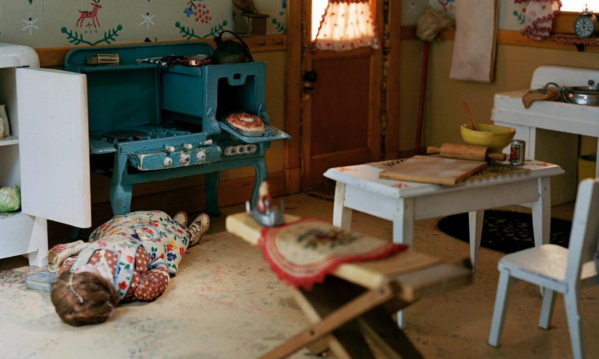 Detail of one of Frances Glessner Lee's meticulous 1940s dioramas, Nutshell Studies of Unexplained Death. Photograph: Corinne May Botz/Wellcome Images