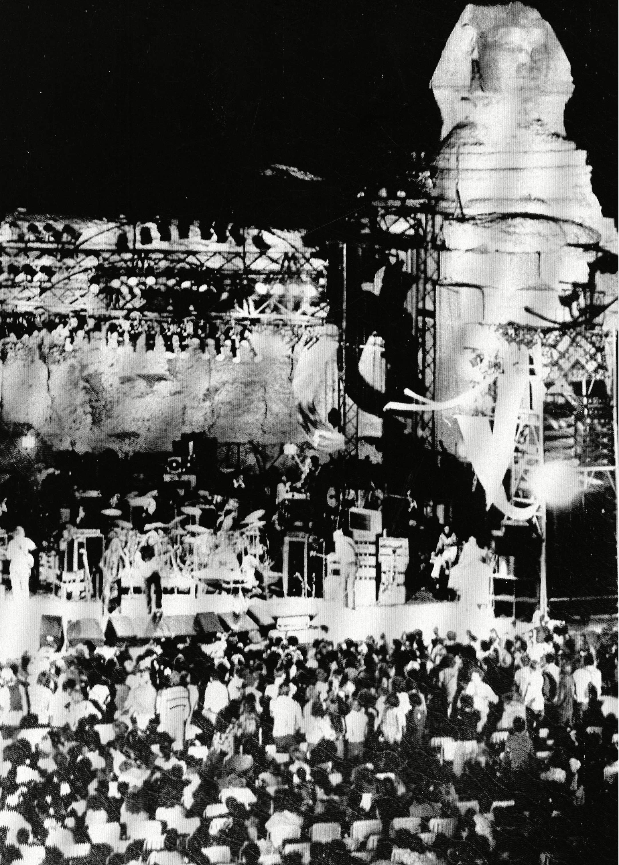 "The American rock band ""The Grateful Dead"" winds up three nights of concerts on a stage in front of the fabled ""Sphinx"" in Cairo, Egypt The Grateful Dead, Cairo, Egypt"