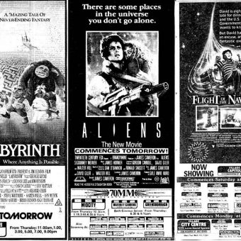 What's Playing at the Local Cineplex? A Look at 1980s Newspaper Movie Ads