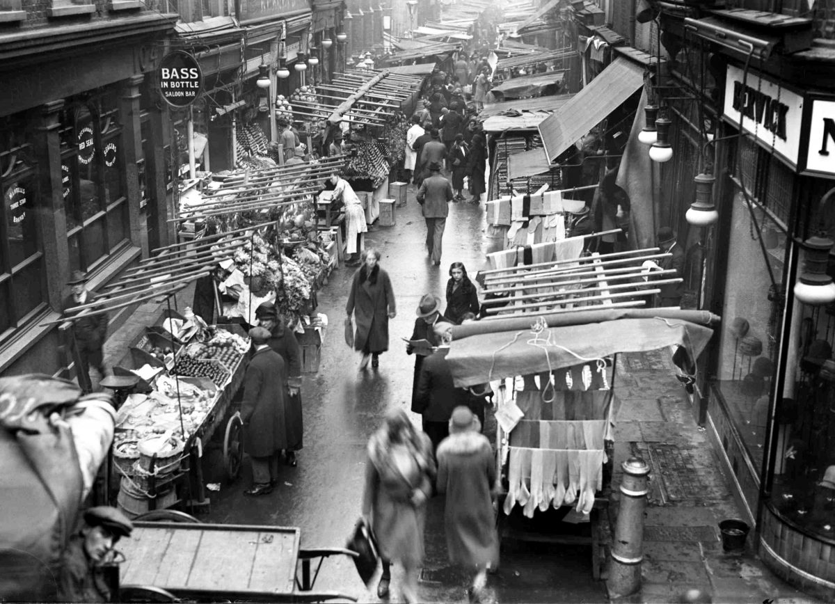 The famous Berwick Market in Soho, London, on Nov. 19, 1928, which will be closed shortly for the construction of two garages. (AP Photo)