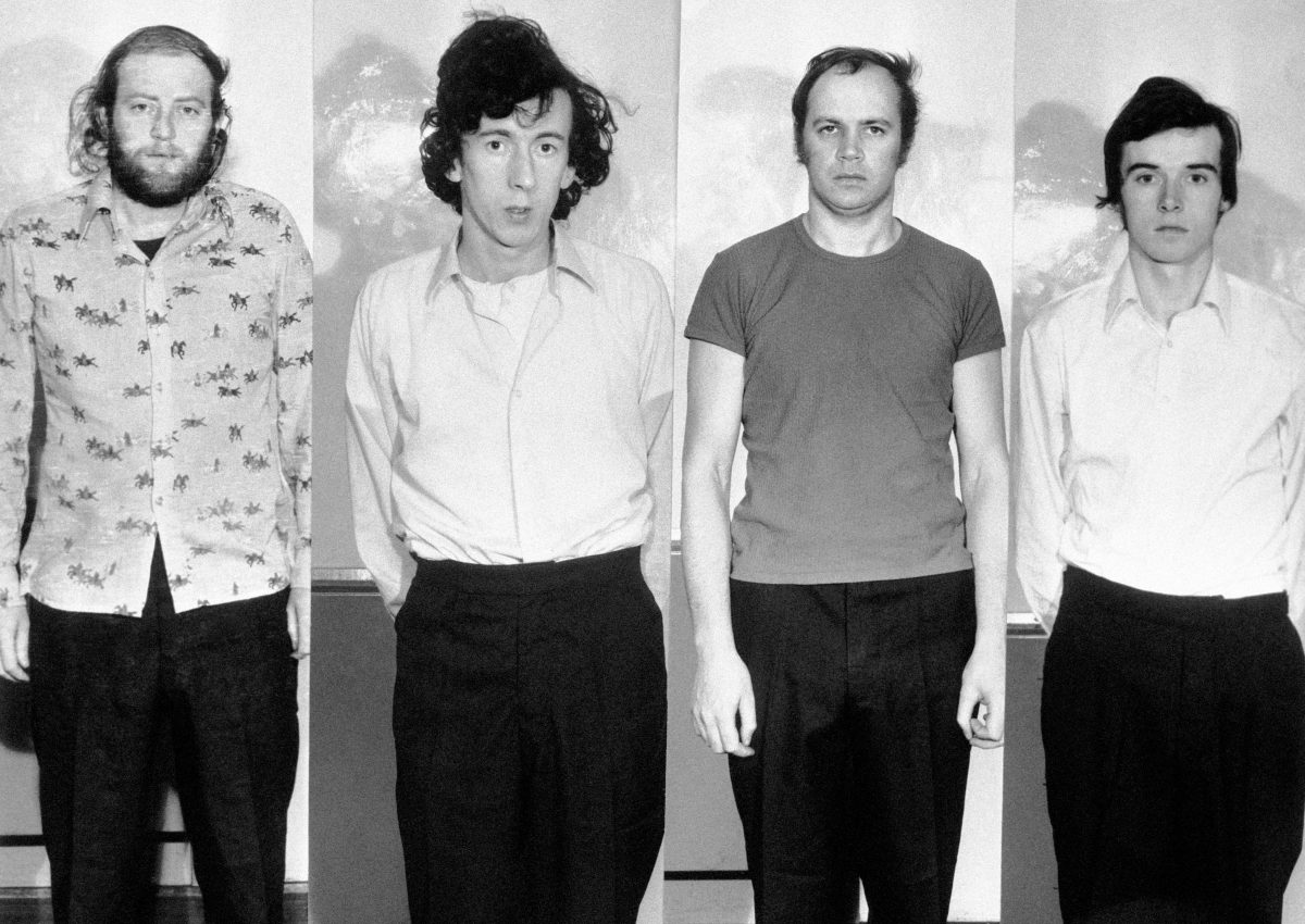 The four Provisional IRA terrorists known as the Balcombe Street Terror Gang, from left: Hugh Doherty, Martin O'Connel, Edward Butler and Harry Duggan, in a line up in London.