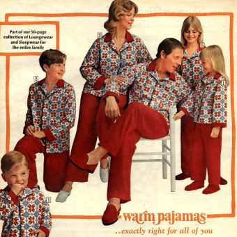 Vintage Christmas Cringe: Families in Matching Holiday Pajamas