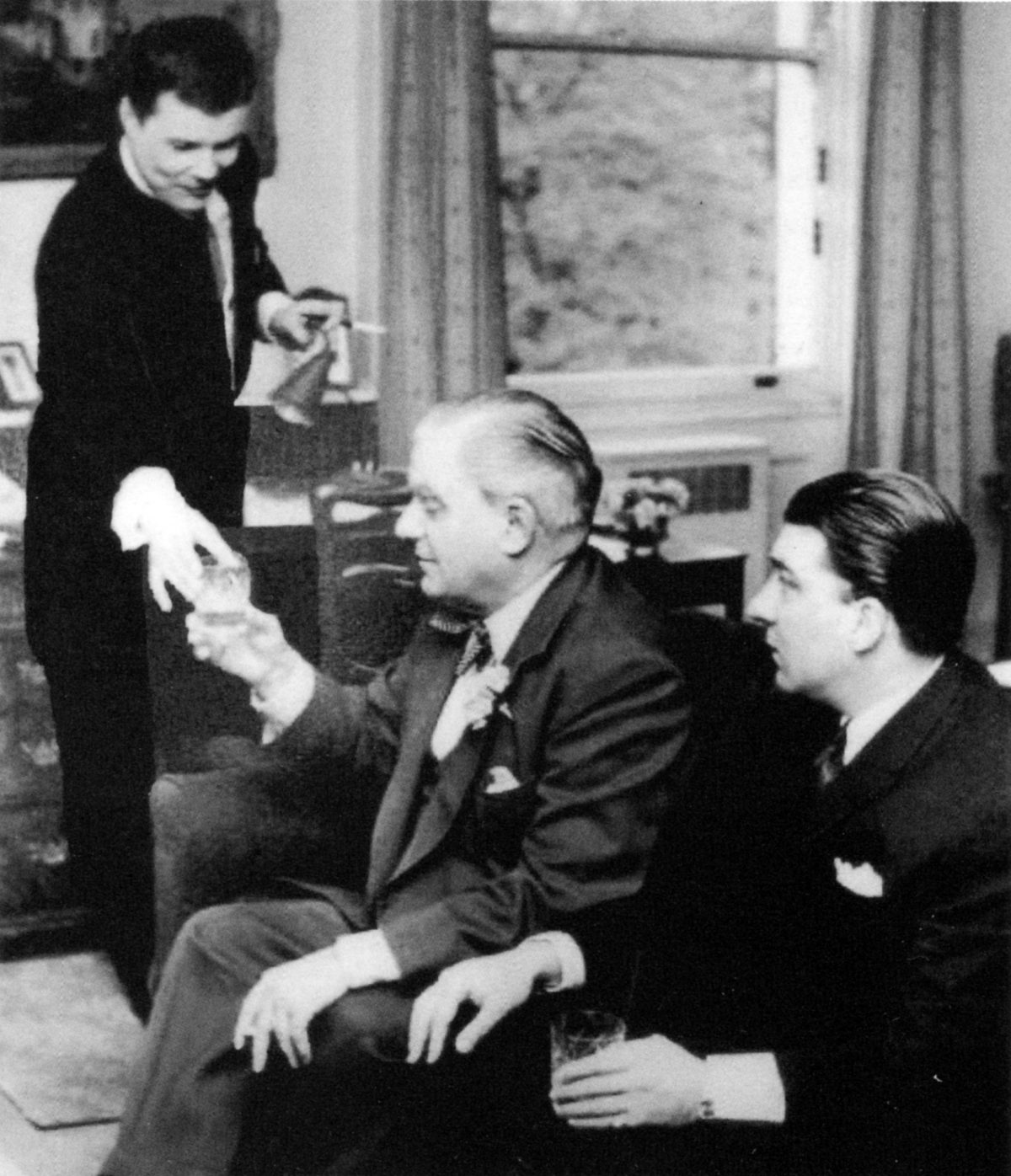 Boothby and Kray and 'Mad' Teddy Smith at Boothbys apartment