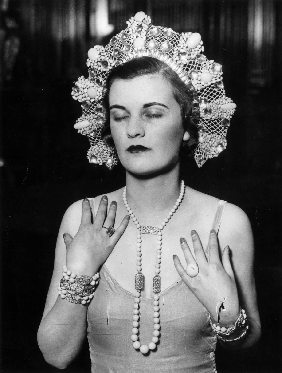 Margaret Whigham, at the 'Jewels of Empire' Ball at Brook House, Park Lane, 1930