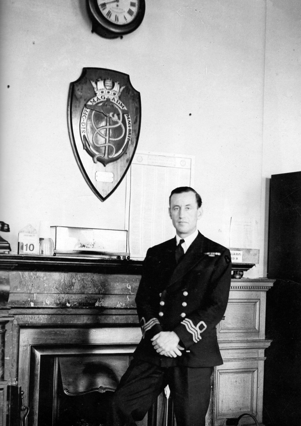 Ian Fleming in Room 39 at the Admiralty during WW2