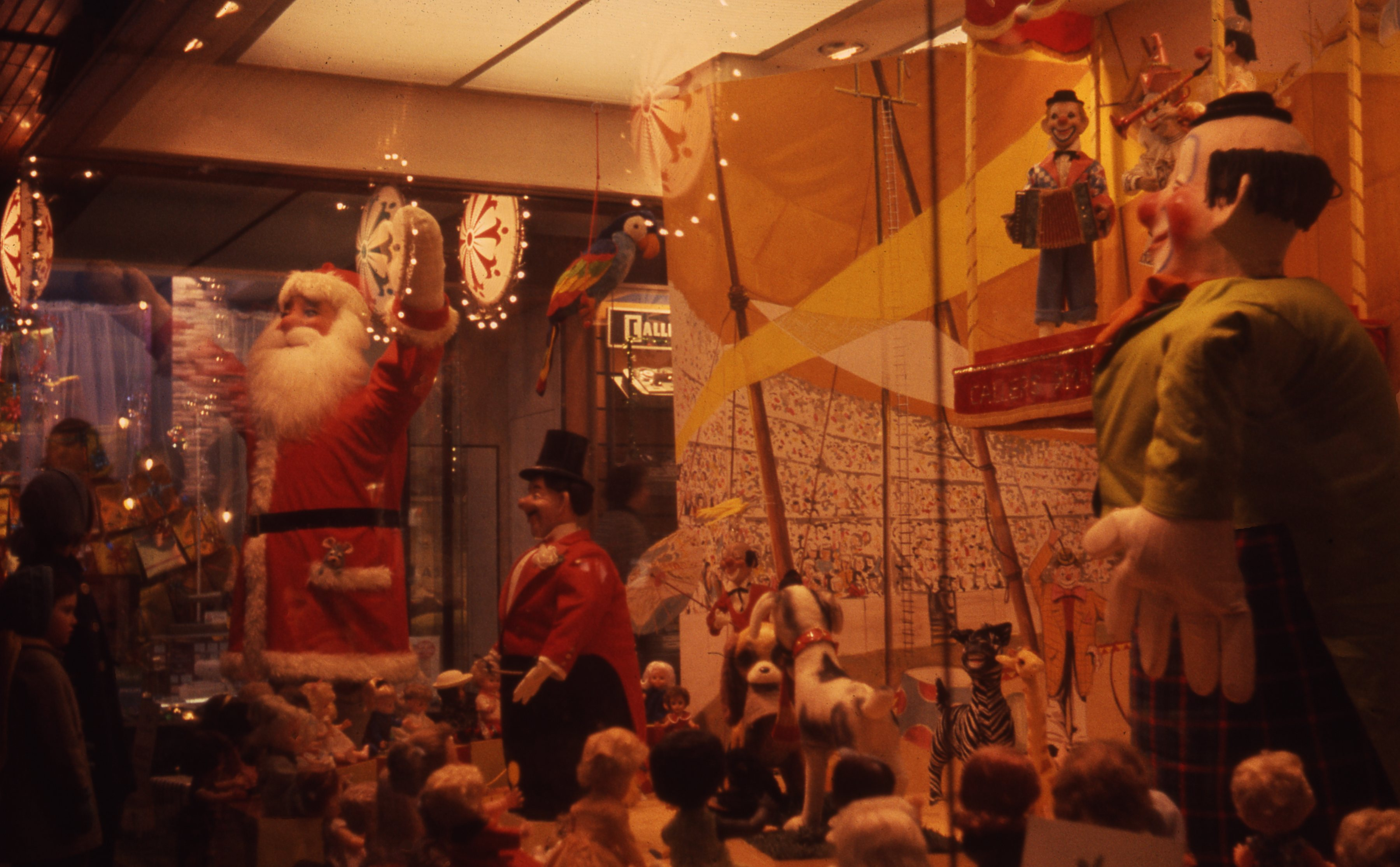 Here is a festive circus scene featuring Father Christmas at Callers department store, Newcastle upon Tyne. This is a 35mm slide. It was taken in 1964.