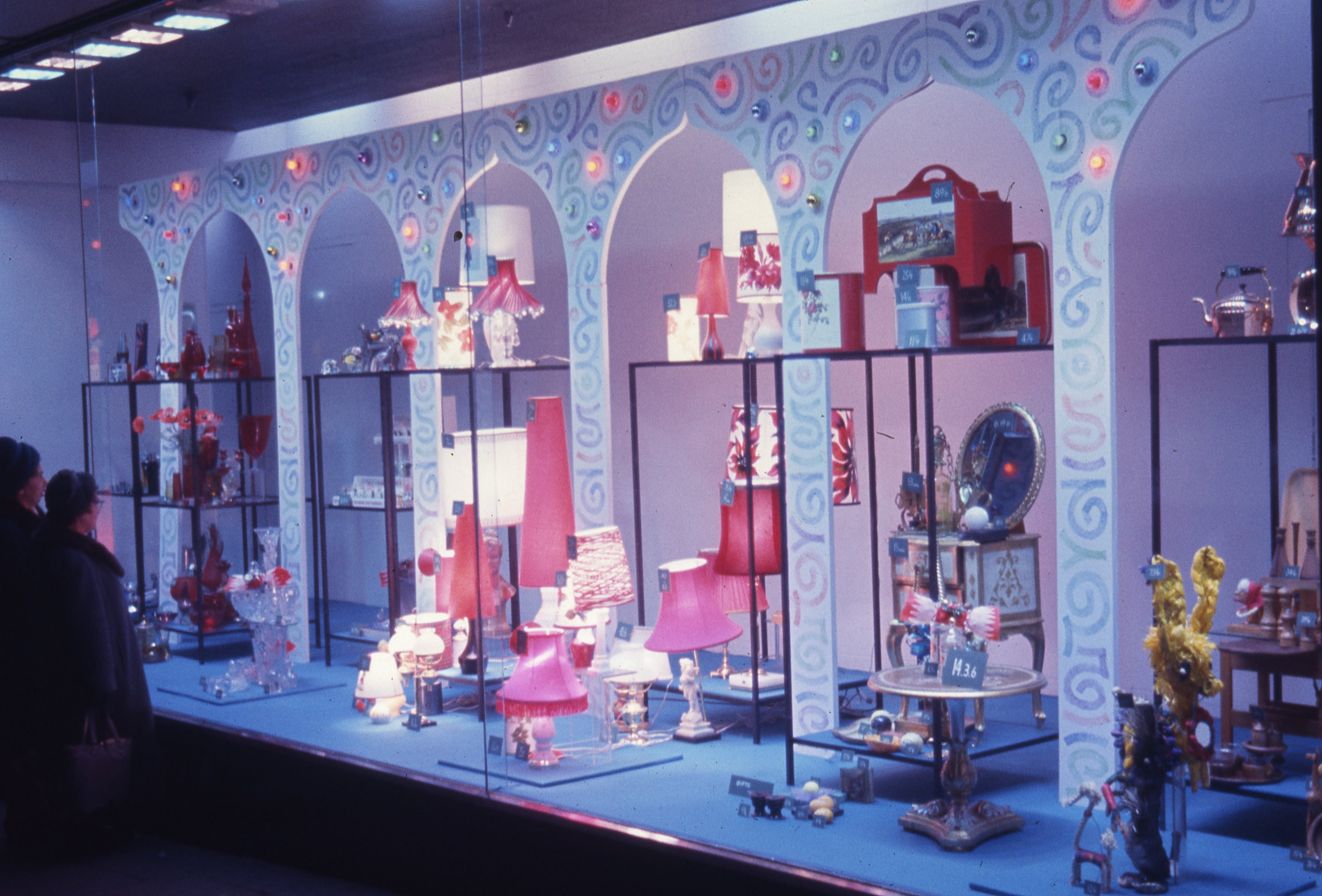 This is a colourful display in Bainbridge's department store, Newcastle upon Tyne. This is a 35mm slide. It was taken in 1965.