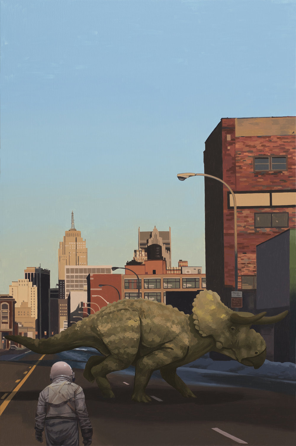 SCOTT LISTFIELD ASTRONAUTDINOSAUR paintings