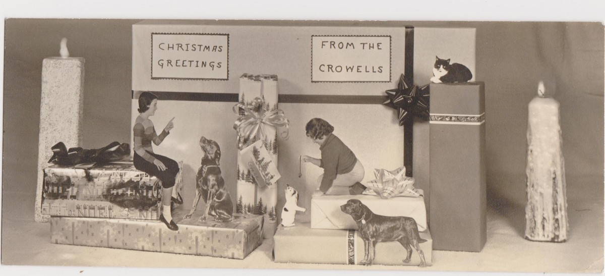 Family Pets In Fabulous Vintage Holiday Greeting Cards Flashbak