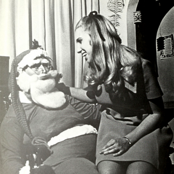 Dirty Santa: Vintage Photos of Ladies on St. Nick's Lap