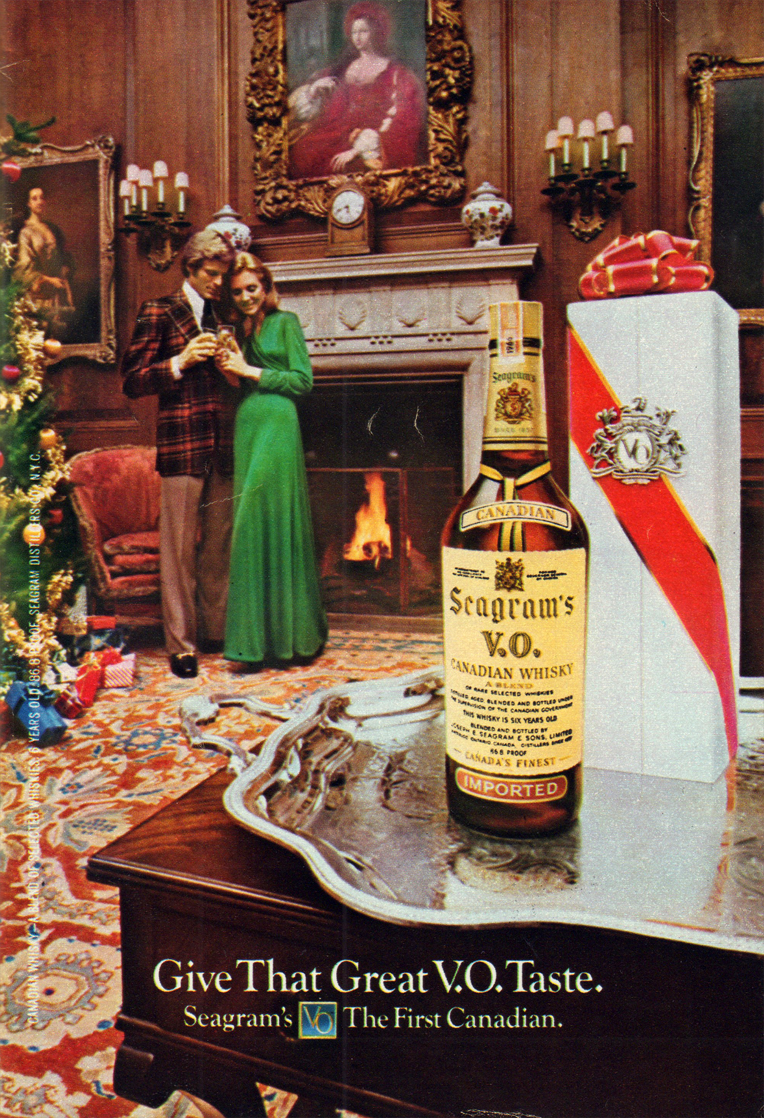 vintage christmas alcohol advertising flashbak