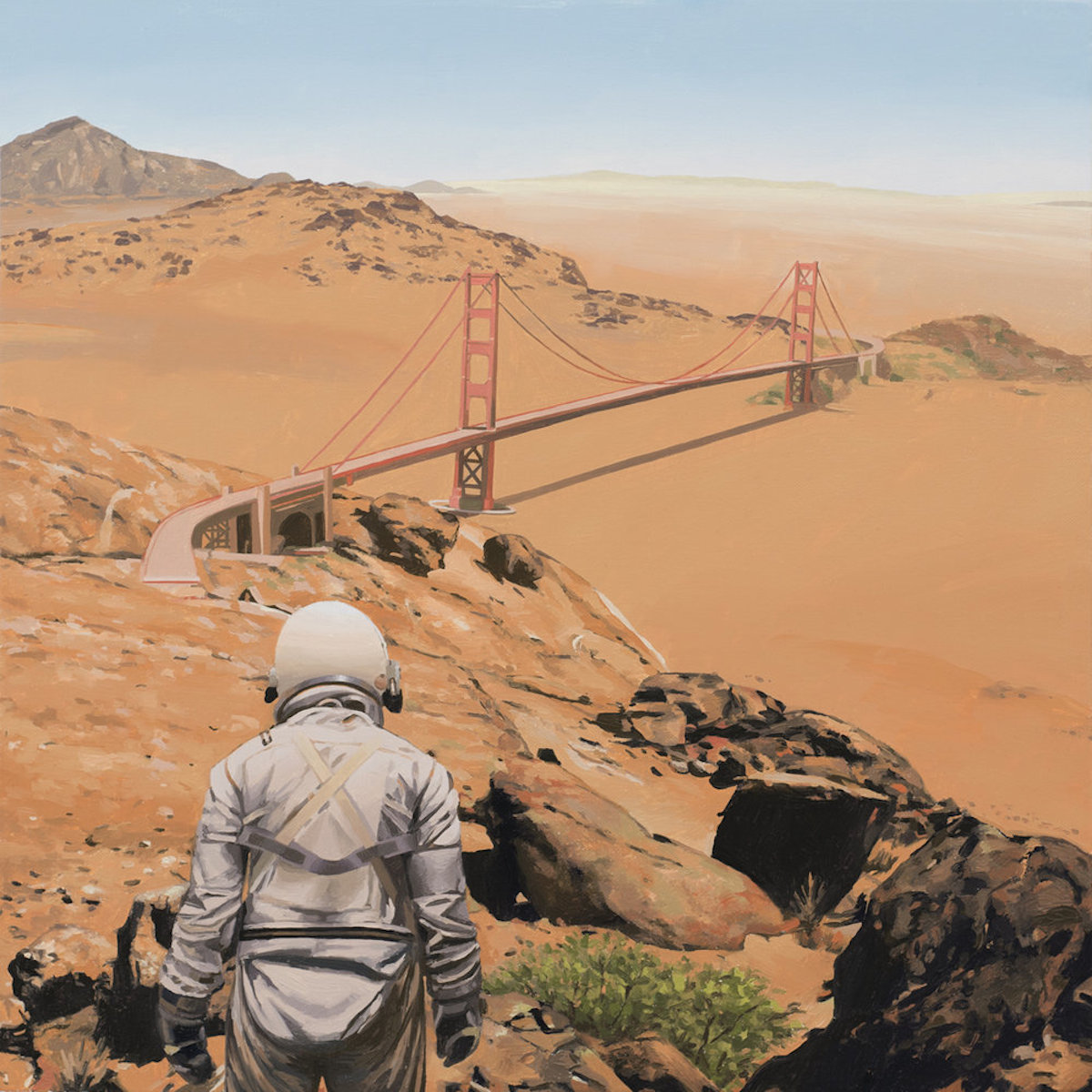 san francisco SCOTT LISTFIELD ASTRONAUTDINOSAUR paintings