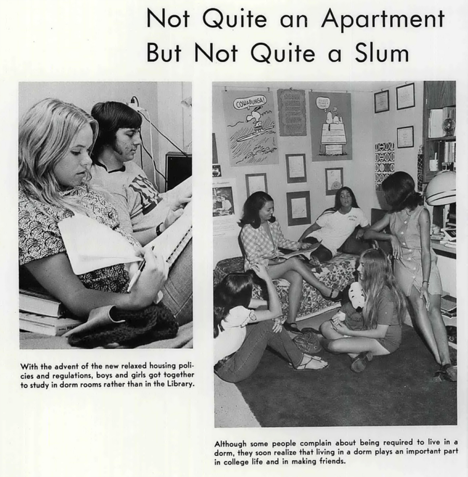 Apartments In Lubbock For Students: Inside College Dorm Rooms From The 1970s