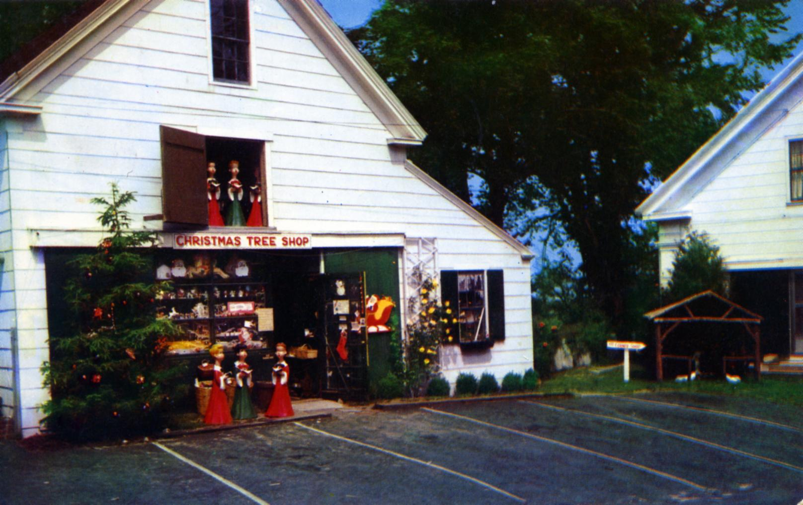 Christmas Tree Gift Shops Yarmouth Port Cape Cod MA on Route 6A, corner at Willow Street Cape Cod's most distinctive and charming gift shops postmarked 1958