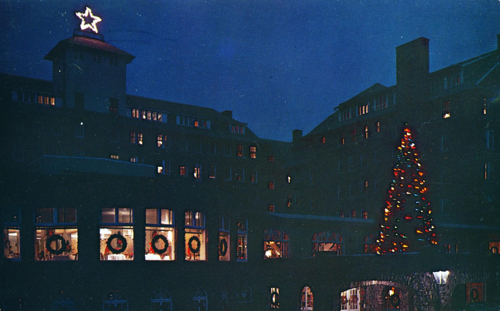 Christmas Season at the Inn Buck Hill Falls PA postmarked 1964