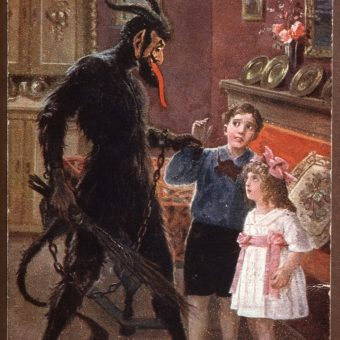 Greetings From Krampus: Gorgeous Old Postcards Of Santa's Demonic Sidekick