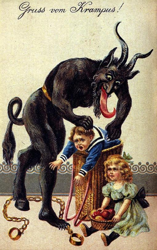 krampus christmas cards