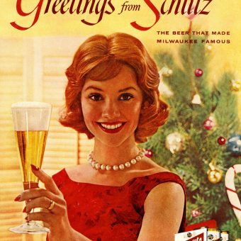 Vintage Christmas Alcohol Advertising