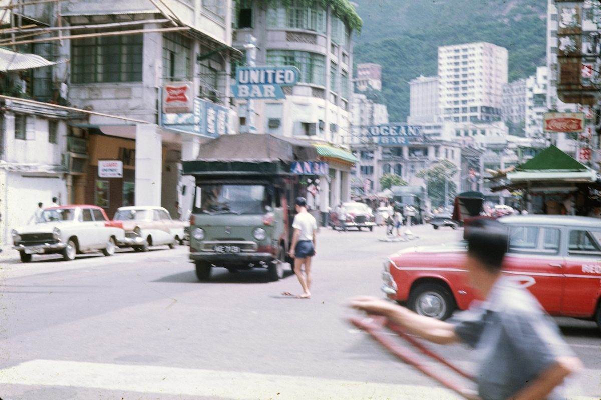 Luard Road, April 1969 Look at all the greenery atop the Ocean Bar building.