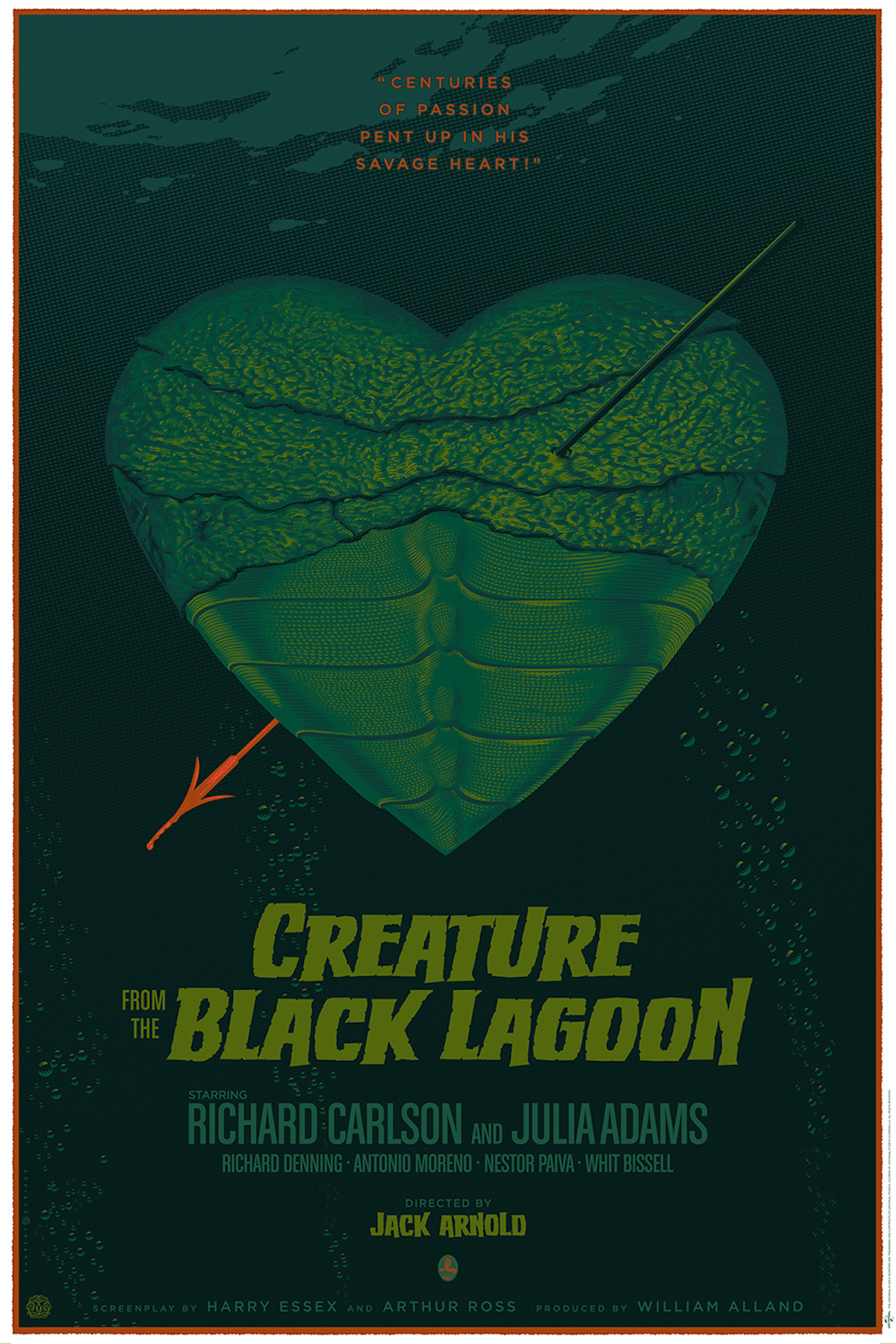 The Creature from the black lagoon Retro-Futuristic World of Laurent Durieux