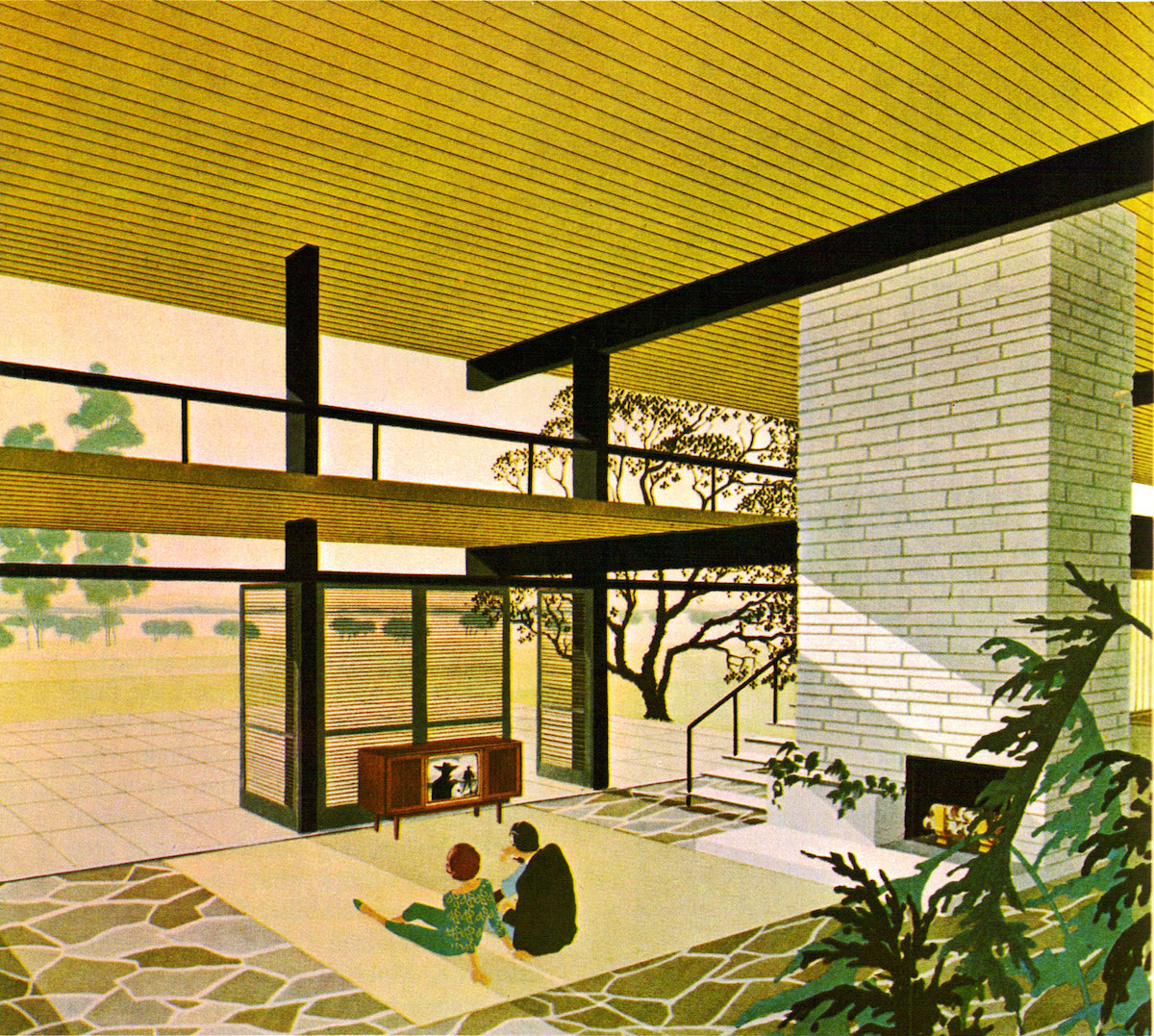 The House of the Future. Motorola advertisements from the early 1960s, illustrated by Charles Schridde.