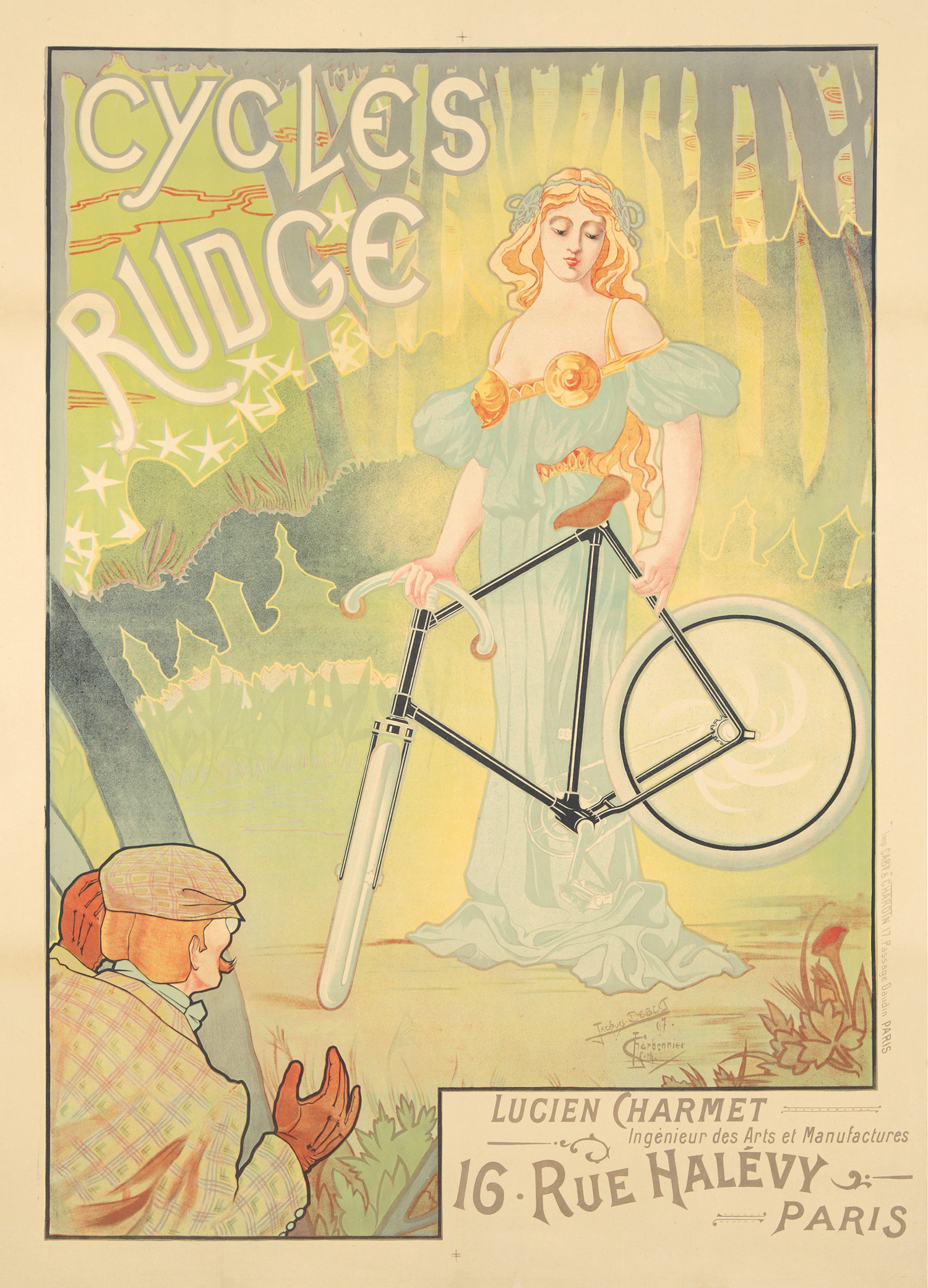 bicycle bike poster women