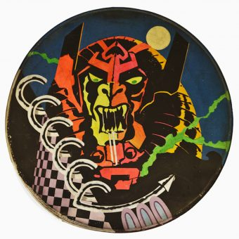 Astounding Barney Bubbles Rarity: An Amazing Hawkwind Drumhead