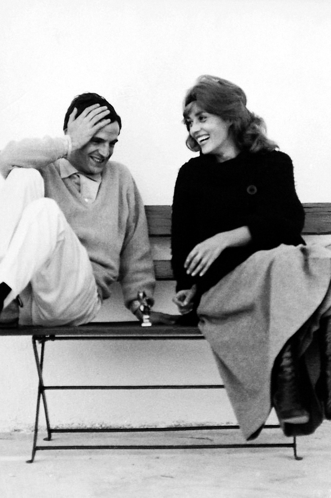 brilliant behind the scenes photos posters and stills from jules et jim flashbak. Black Bedroom Furniture Sets. Home Design Ideas
