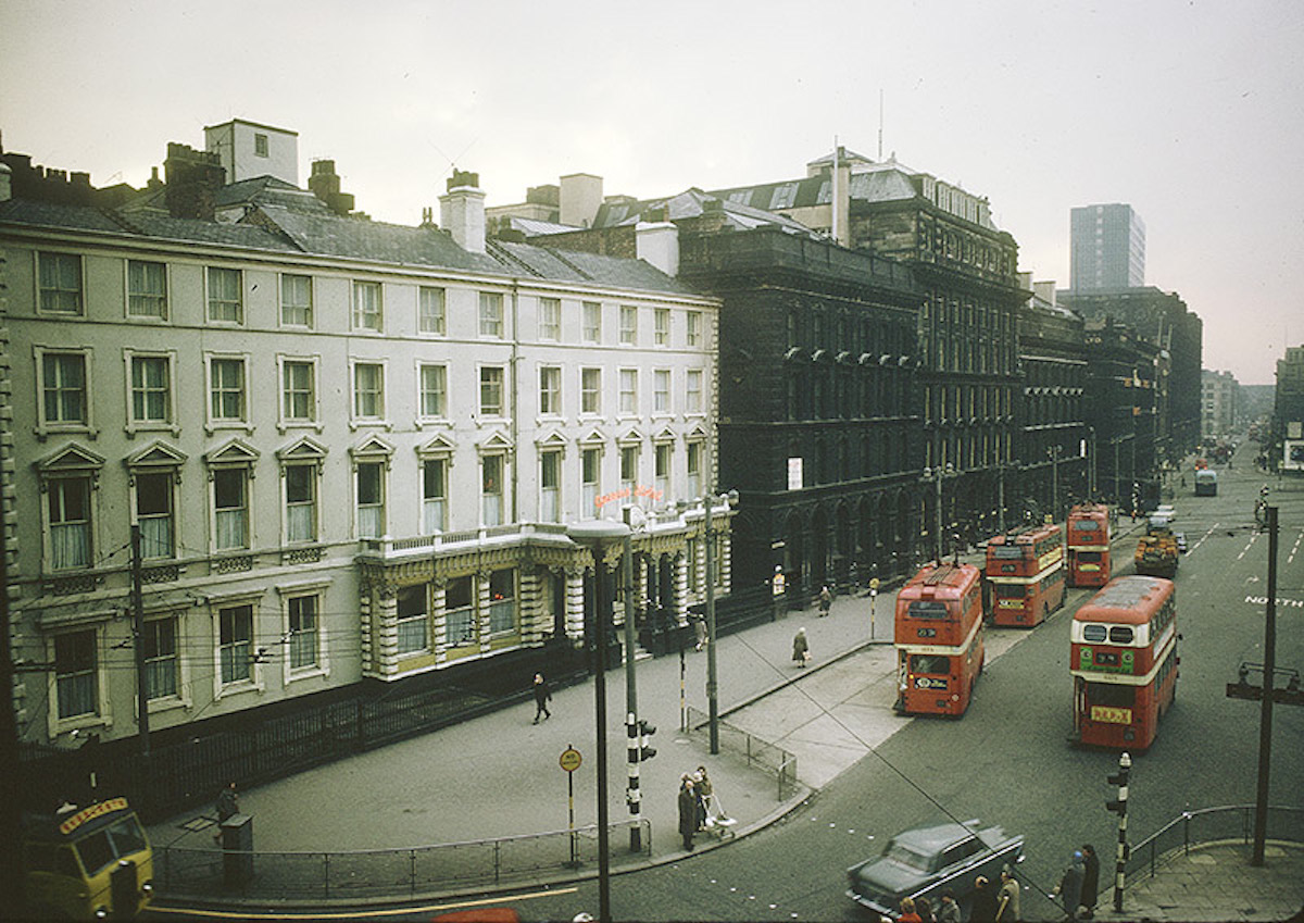 View across Piccadilly Gardens towards the Piccadilly Plaza development whilst under construction in early 1964.